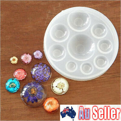Silicone Round Jewelry Amber Making Mold Resin Casting Epoxy Mould Craft DIY