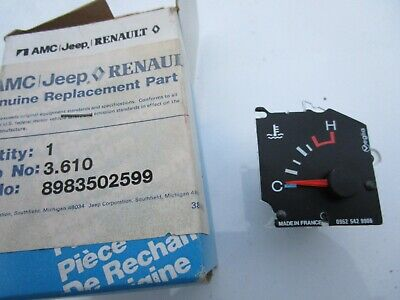 Temperature Gauge AMC Jeep NOS 8983502599 or 83502599 Qty-1 New