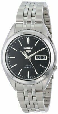 SEIKO SNKL23 Stainless Steel Black Dial Automatic Watch - Hodinkee recommended!