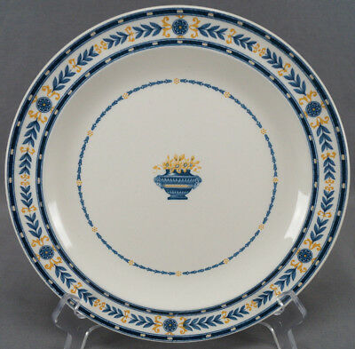 Wedgwood The Etruria Blue & Ocher Transferware 9 1/4 Inch Luncheon Plate C 1918