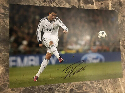 "CRISTIANO RONALDO SIGNED 8""x12"" PHOTO COA MANCHESTER UNITED REAL MADRID JUVENTUS"