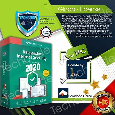 Kaspersky Internet security 2020  01device x 1 year  Instant Delivery global key
