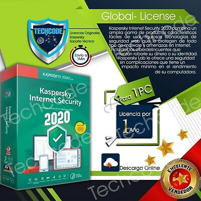 Kaspersky total security 2020 1 dispositivo x 1 ano entrega inmediata global key