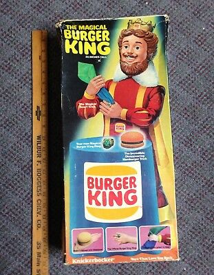 """1980 The Magical Burger King 20"""" Doll By Knickerbocker Toys"""