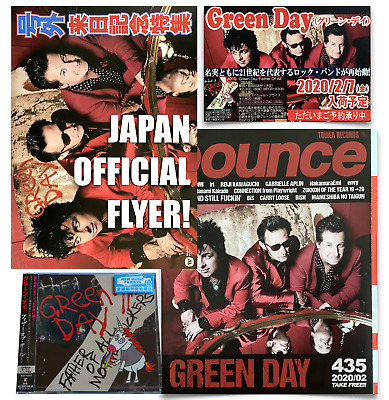 Japan Official Flyer+Banner+Cd With Bonustrack+Mag! Green Day Father Of All 2020