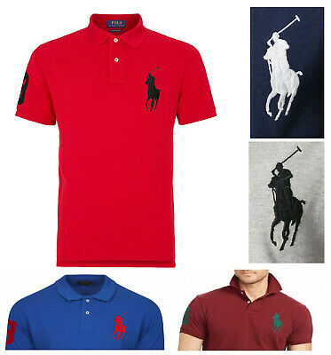 Mens Ralph Lauren Polo T-Shirt Big Pony 3 Short Sleeve Custom Slim Fit Rrp £109