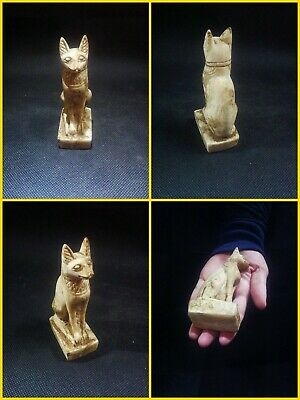 EGYPTIAN ANTIQUE ANTIQUITY Bastet Cat Statue Figure Sculpture 1549-1088 BC