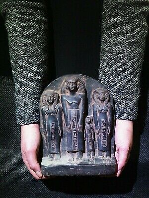 EGYPTIAN ANTIQUE ANTIQUITY Family Group Stela Stele High Relief 1850-1800 BC