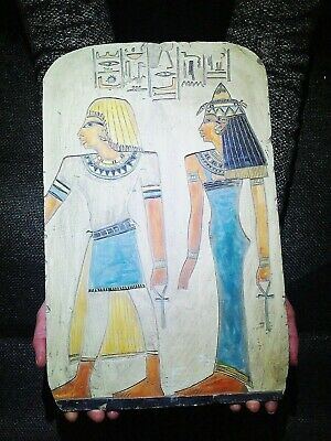 EGYPTIAN ANTIQUES ANTIQUITY Princess Sedet And Nerb Stela Stele 2789-2715 BC