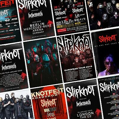 SLIPKNOT 12x18 WE ARE NOT YOUR KIND POSTER BAND IOWA KNOTFEST METAL HAMMER 11