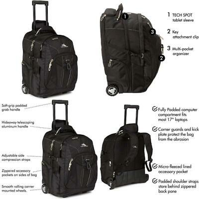 High Sierra Xbt Wheeled Laptop Backpack Black One Size