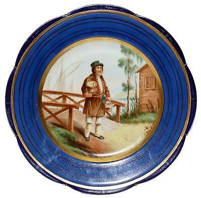 ANTIQUE RUSSIAN PORCELAIN PLATE KUSNETSOV, 19th CENTURY