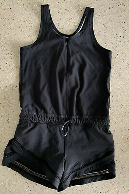Ivivva GIRLS Romp To Rythm Romper Size 8 BLK Excellent Condition