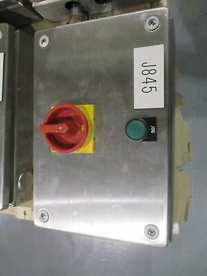 Rittal Standard Stainless Steel Enclosure KL 1524 010 w/ Switch and Button