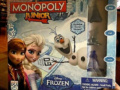 Disney Frozen Monopoly Junior Jr Hasbro Game NEW FACTORY SEALED