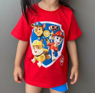 New 100% Quality Cotton Kids Boys Paw Patrol T-shirt  Children Top Tee Toddler