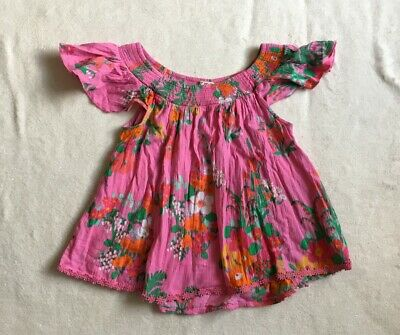 ***Next girls Pink Floral cotton top blouse 8 years VGC***