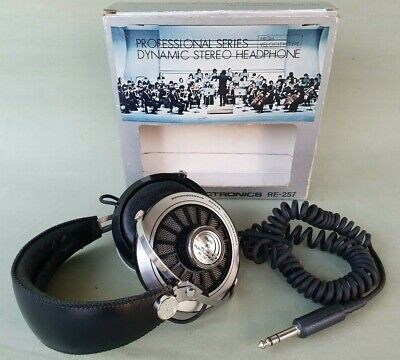 Vintage ROSS RE-257 Professional Series Stereo Headphone VGC Made in Japan
