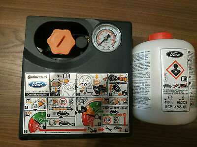 New Genuine Continental Mobility Kit Inflator & Sealant Tire 12V Tire Inflator