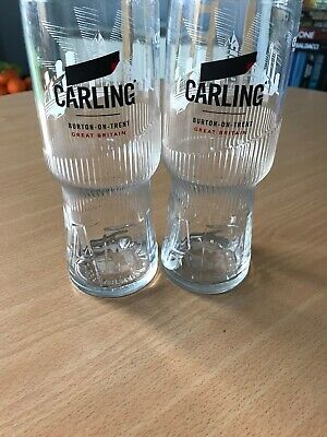 6 X CARLING PINT GLASES BRAND NEW 2019 DESIGN EASY TO HOLD CE Bar Pub Man Cave