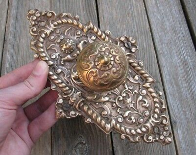 Antique Ornate Bronze Door Bell Pull