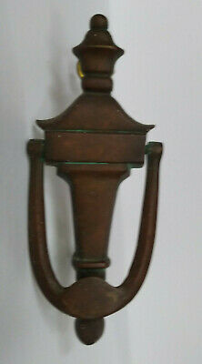 Vintage Reclaimed Door Knocker Brass Aged Patina