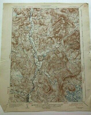 1931 Geological Survey Topographic Map NH Holderness Thornton Squam Lake