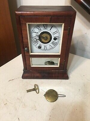 Antique Seth Thomas Mini Cottage Clock Plymouth Hollow Movement #2