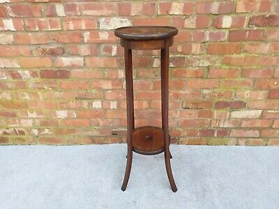 Large Edwardian inlaid two tier plant stand antique