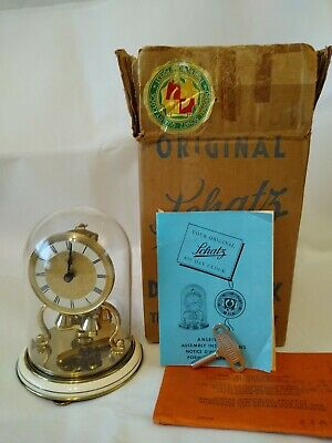 Schatz 400 day clock Germany For REPAIR with Box Manual Key