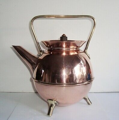 Antique Arts & Crafts Christopher Dresser Benham Froud Copper Brass Kettle