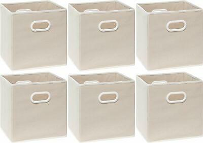 Shabby Chic Country Farmhouse Set of 6 Foldable Storage Bins ORGANIZATION!