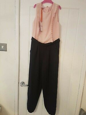 Girls Ted Baker Navy Pink Jumpsuit Age 13 Years Bnwt
