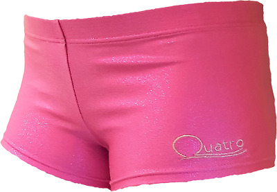 Girls shimmer pink QUATRO gymnastic,sports shorts, size CME