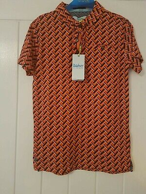 New Boys Ted Baker Smart Shirt Orange Age 9-10 Years With Tags