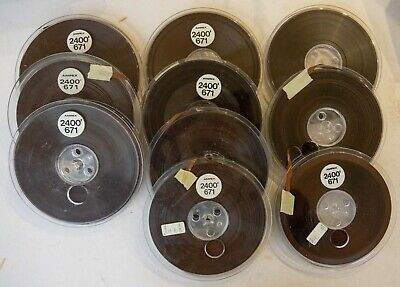 Lot of 10 Used Ampex 671 Recording Tapes 2400ft  7in Reels MANY LOTS AVAILABLE