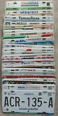 Complete set of 32 Mexico license plates All states included