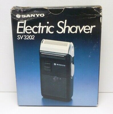 New SANYO SV3202 CORDED Electric Shaver in Box - WORKS