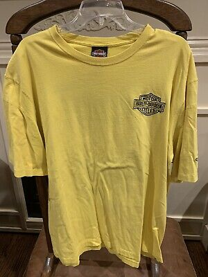Texas Harley Davidson Bedford Texas Extra Large XL Yellow T-Shirt Tee