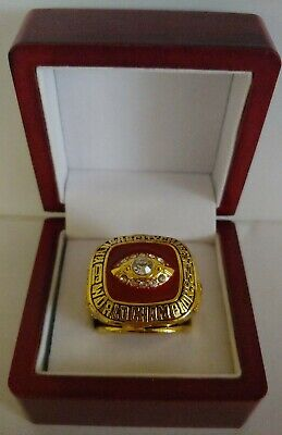 Len Dawson - 1969 Kansas City Chiefs Super Bowl Ring WITH Wooden Box
