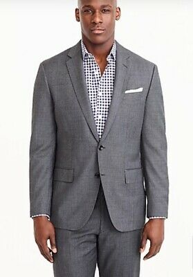 J Crew Crosby Italian Worsted Wool Suit Jacket - 38S Gray $425 - B2041 Tollegno