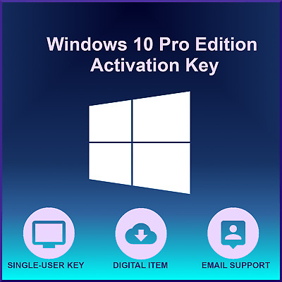 Microsoft Windows 10 Pro 32/64 Bit Activation Key - Lifetime Use
