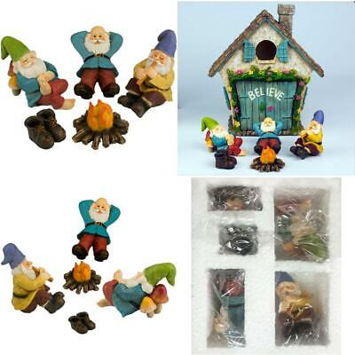 Five Piece Twig /& Flower The Relax by The Campfire Mini Gnome Set