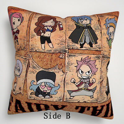 Fairy Tail Anime Manga two sides Pillow Cushion Case Cover 635 A