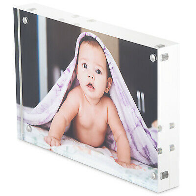 Free Standing 6 x 4 Acrylic Photo Block / Picture Frame