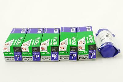 lot of 6x Fuji Provia 100F RDP III films, 120 type, expired, E-6 slides