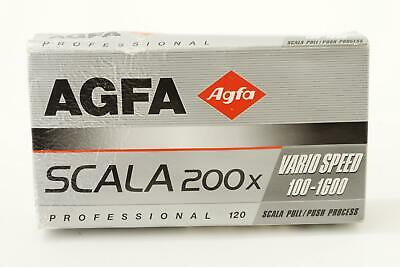 lot of 4x Agfa Scala 200x films, 120 type, expired 2003, E-6 BW slides