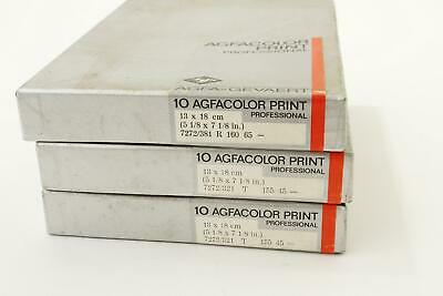 3x Agfacolor Print color printing film, 13x18, boxed and sealed, expired