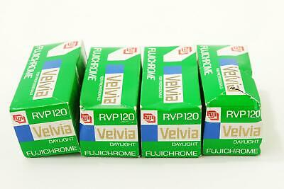 lot of 4x Fuji Velvia 50 RVP films, 120 type, expired 10/1992, E-6 slides