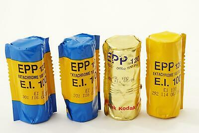 lot of 4x Kodak Ektachrome 100 Plus films, 120 type, expired, E-6 slides